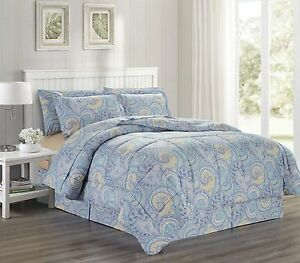 Ultra-Soft-Microfiber-8Pc-Paisley-Scroll-Print-Bed-in-a-Bag-Queen-King-Isla