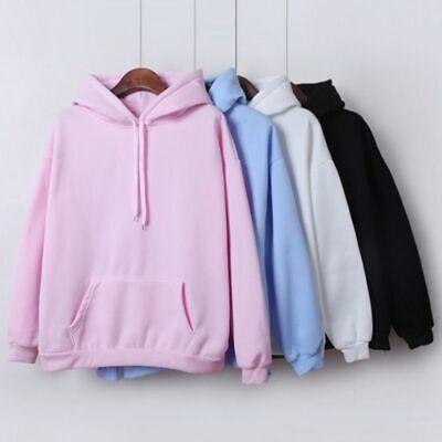 Women Hoodies For Girls Solid Color Hooded Tops Women's Sweatshirt Long Sleeve | eBay