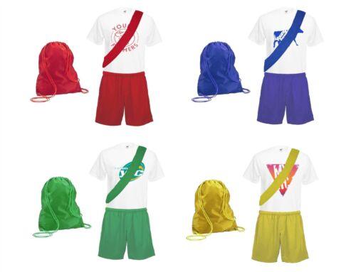Adults Schools Sports Day PE Kit Full Costume With Custom YFC Badge Print