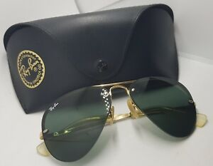 8cd501728c699 Sunglasses Ray Ban RB3449 001 71 56 14 3N aviator style OLD Vintage ...