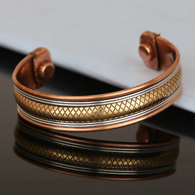 Bracelet Women/'S Cuff Link Pure Copper Magnetic Pain Therapy Healing Bangle