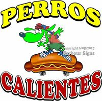 Perros Calientes Decal (choose Your Size) Hot Dog Cart Food Truck Concession