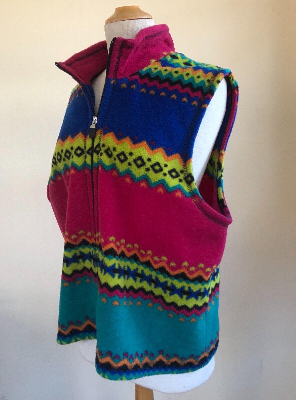 Susan Bristol -Sz XL PRINTED Wild Fleece Art-to-W… - image 4