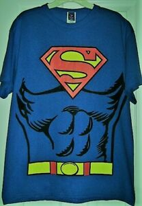 Men-039-s-Rubie-039-s-Superman-T-Shirt-with-Cape-New-w-o-tags-Excel-Price