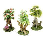 Classic Bonsai Tree Set of 3 Trees Aquarium Ornament Fish Tank Decoration 3164