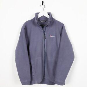 Vintage-Women-039-s-BERGHAUS-Small-Logo-Zip-Up-Fleece-Top-Purple-UK-10
