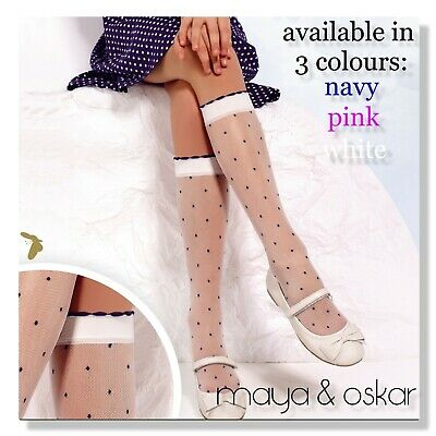 blanc Opaque Knee High Chaussettes Collants