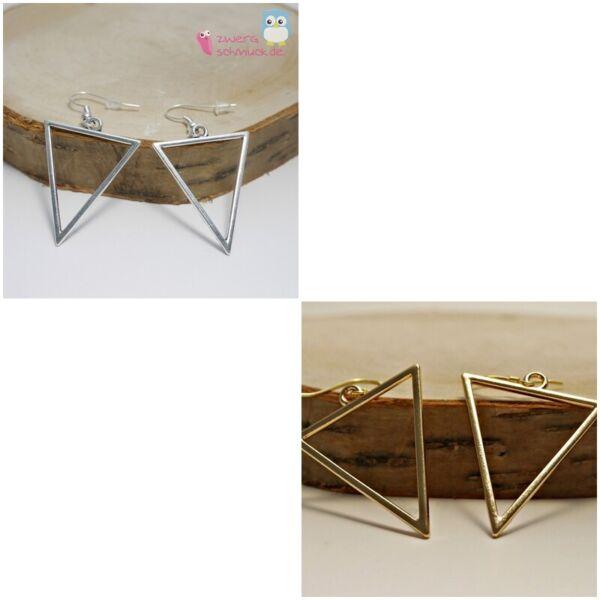 Dreieck Ohrhänger - Modern Schlicht - Grafisch - Geometrisch - Silber Oder Gold Reisen