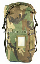 Military Storage LARGE Compression Carrying Bag Utility STUFF SACK Woodland GOOD
