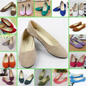 New-Womens-Ballerina-Ballet-Dolly-Pumps-Ladies-Flats-Loafers-Boat-Shoes-Size