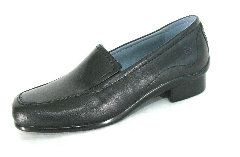 Aravon zapatos talla 6.5 Mocasines De Cuero Negro Resbalón en en en Zapatos de tacón bajo para mujer 1  6.5B Nuevo Sin Caja  servicio honesto