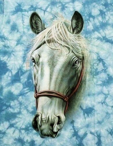 Pferd T-Shirt blau Halfter Gr.S,M,L,XL,Indianer Pferde Mustang Western Reiter