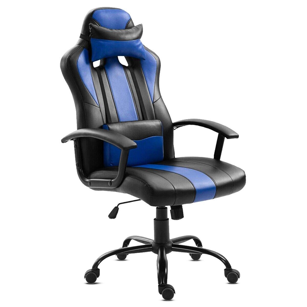 s l1600 - KEWAYES - Silla de oficina GAMER color azul deportiva ergonómica despacho gaming