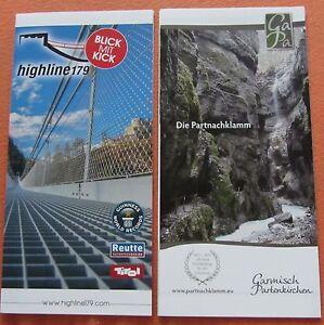2 Stück Info Partnachklamm Garmisch Partenkirchen und Highline179 Blick mit Kick - Deutschland - 2 Stück Info Partnachklamm Garmisch Partenkirchen und Highline179 Blick mit Kick - Deutschland