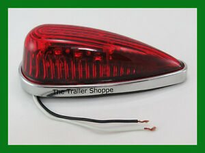 Cab Roof Clearance Marker Teardrop Red Led Lights Ford
