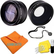 58MM 2x Telephoto +WIDE ANGLE + MACRO + CLEANING KIT FOR CANON EOS REBEL T