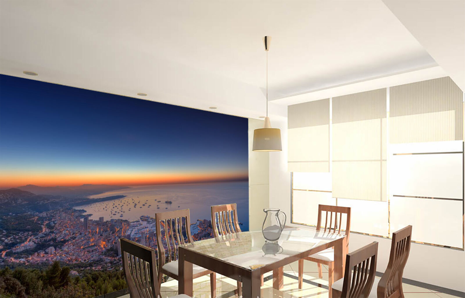 3D Morining Coastal City 772 Wall Paper Wall Print Decal Wall Deco Indoor Wall