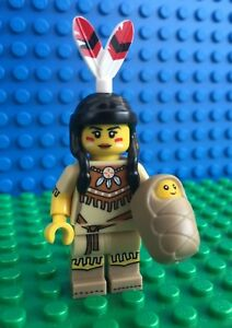 Lego-71011-Series-15-TRIBAL-WOMAN-Baby-Indian-feather-Minifigures-City-Town-New
