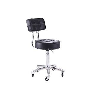 Medical Chair Spa Stool With Back Round Height Adjustable Rolling