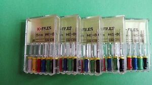 10-Packs-Dental-Root-Canal-Endodontic-Stainles-Hand-Use-K-Files-25mm-45-80