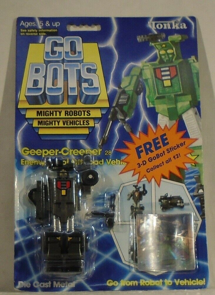 Gobots Geeper Creeper Off strada Vehicle with 3-D sticker Tonka Jeep Mint on autod