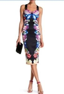 794b3bf0aa532 Ted Baker Deony Bodycon Dress In Tapestry Floral Print Size 8 NEW ...