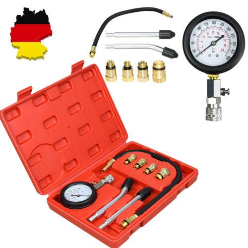KFZ Motorrad Kompressionsprüfer Kompressions Tester Zylinder BENZIN Meßgerät Kit