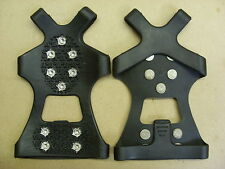 Large Safety SHOE GRIPPERS.. 10 Spikes...... Icey Snow Walk hike crampons Cleats