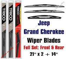 Jeep Grand Cherokee 2005-2010 Wiper Blades 3pk Front & Rear - 30210x2/14C