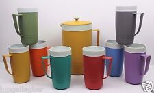 Sunfrost Therm-O-Ware Chicago Vintage 60's Pitcher 8 Handled Cup Plastic Set