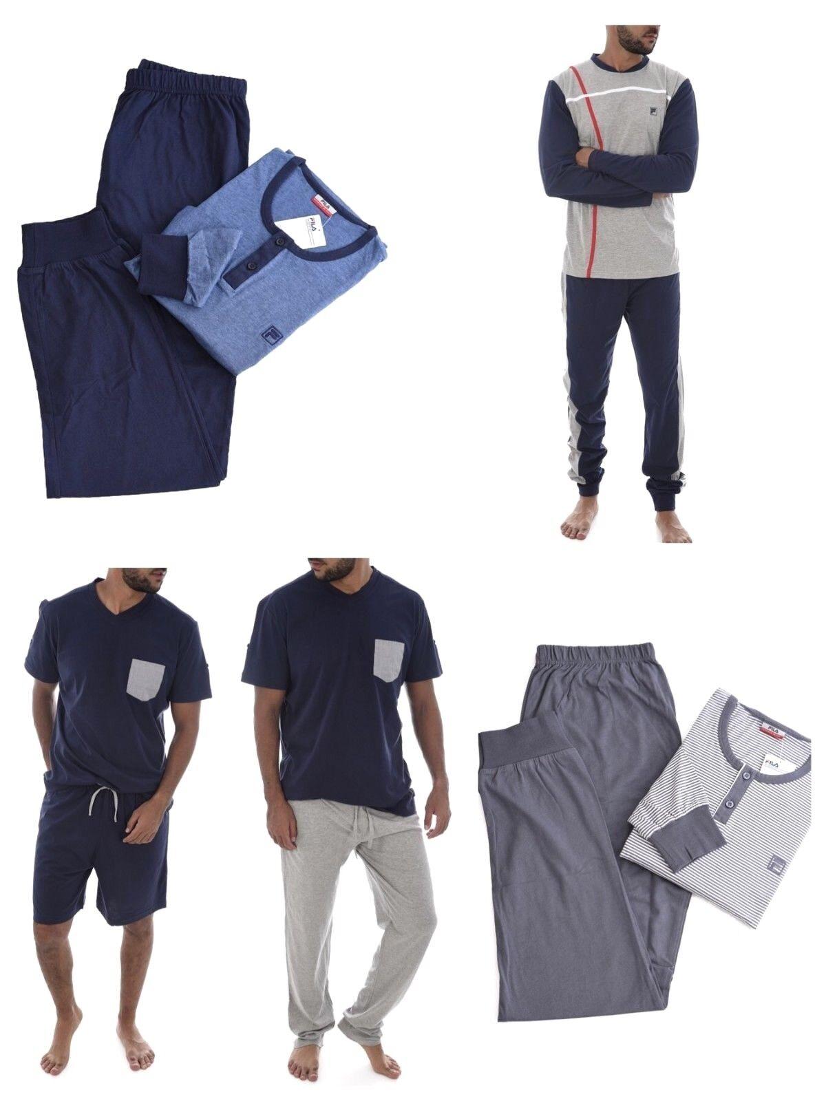 404c1b4fea7518 FILA Herren Pyjama Schlafanzug Nachtwäsche aus Baumwolle hochwertiger  npzieb1061-neue Kleidung