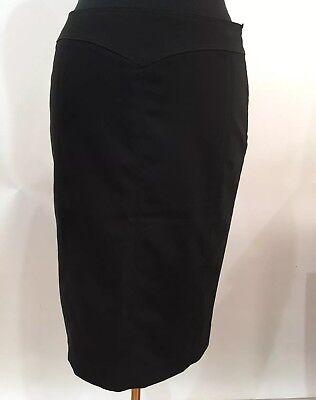 Skirts Women's Clothing Mng Designer Vintage Retro Boho Fashion Black Skirt Size Us 8 Aus 10 Eur 40