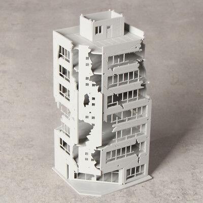 N Scale 1//144 Grey Battle Damaged Building After For GUNDAM Scene 8.8*6.7*22.3cm