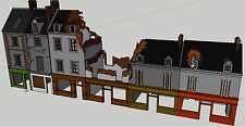 15mm Wargaming Terrain Bombed Street Set (other scales available on request)