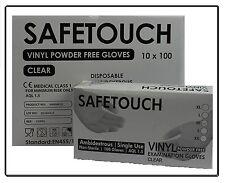 Disposable Powder Free Clear Vinyl Gloves Medical Grade Examination Doctor 100