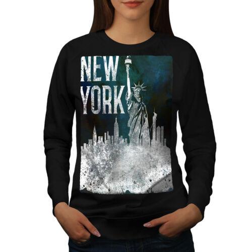 American Casual Pullover Jumper Wellcoda New York City Statue Womens Sweatshirt