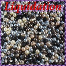 1000 perles de Bohême en verre nacré +/- 4mm  mélangé (2 achetés = 1 Offert )