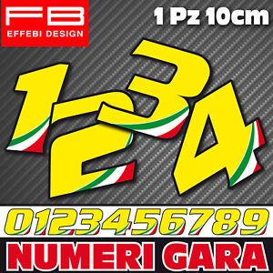 Adesivi-Stickers-NUMERI-GARA-italy-carena-Auto-Moto-Gp-Cross-tricolore-a-scelta