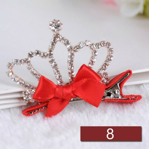 Crystal Rabbit Ears Girls Bowknot Hairpin Baby Hair Clip Rhinestone Crown