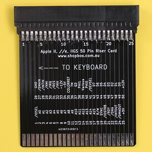 Apple-II-Plus-e-IIe-IIGS-Expansion-Riser-Card-For-Testing-and-Diganostics