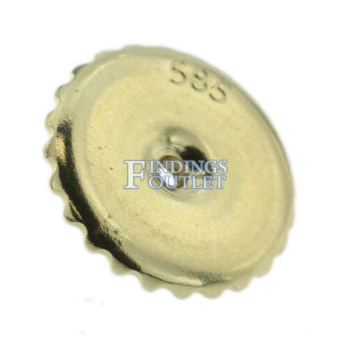 14k Yellow Gold Round Stud Earring Mounting Setting Screw Back Post 6 Prong