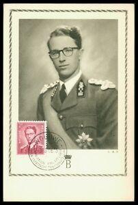 Belgique Mk 1956 Baudouin Roi King Roi Maximum Carte Carte Maximum Card Mc An65 Soulager Le Rhumatisme Et Le Froid