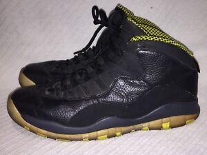 new style b2768 19c20 Details about Men s Size 11.5 Nike Air Jordan Retro 10 Black Venom Green  Sneakers 310805-033