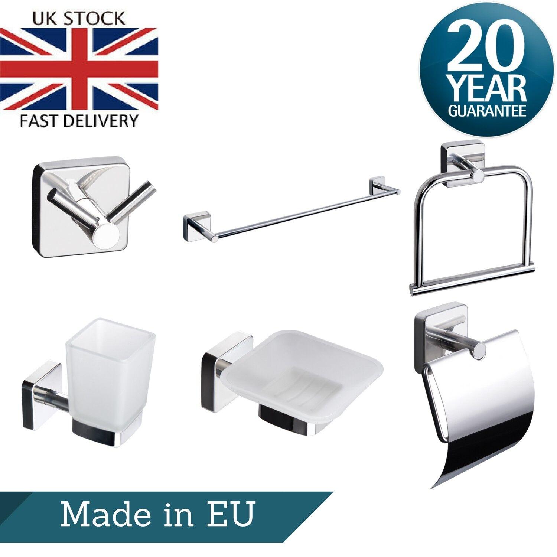 Accessoires de Bain 6pcs Set Porte-serviettes anneau crochet Rouleaux de Papier Toilette Savon Titulaire Tumbler