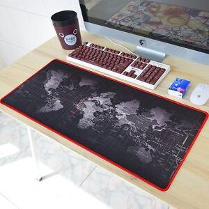 Large xl size anti slip world map speed game mouse pad gaming mat image is loading large xl size anti slip world map speed gumiabroncs Gallery