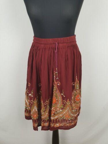 Petite Girls Bohemian Hippie Gypsy Festival Mini Sequin Hen Skirt Party 4 6 8 10