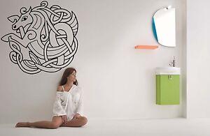 Wall-Room-Decor-Art-Vinyl-Sticker-Mural-Decal-Ancient-Tatto-Celtic-Horse-FI882