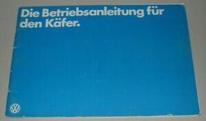 Betriebsanleitung VW Käfer Bedienungsanleitung Handbuch Bordbuch Buch 11/1978!