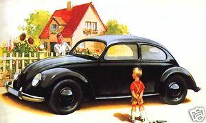 Magnets For Cars >> 1939 Volkswagen KDF Wagen, Beetle, Bug, BLACK, Refrigerator Magnet,40 MIL | eBay