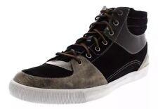 Boxed 👤Timberland 👤UK 8 Mens Glastenbury Black Leather Trainers Shoes 42 EU